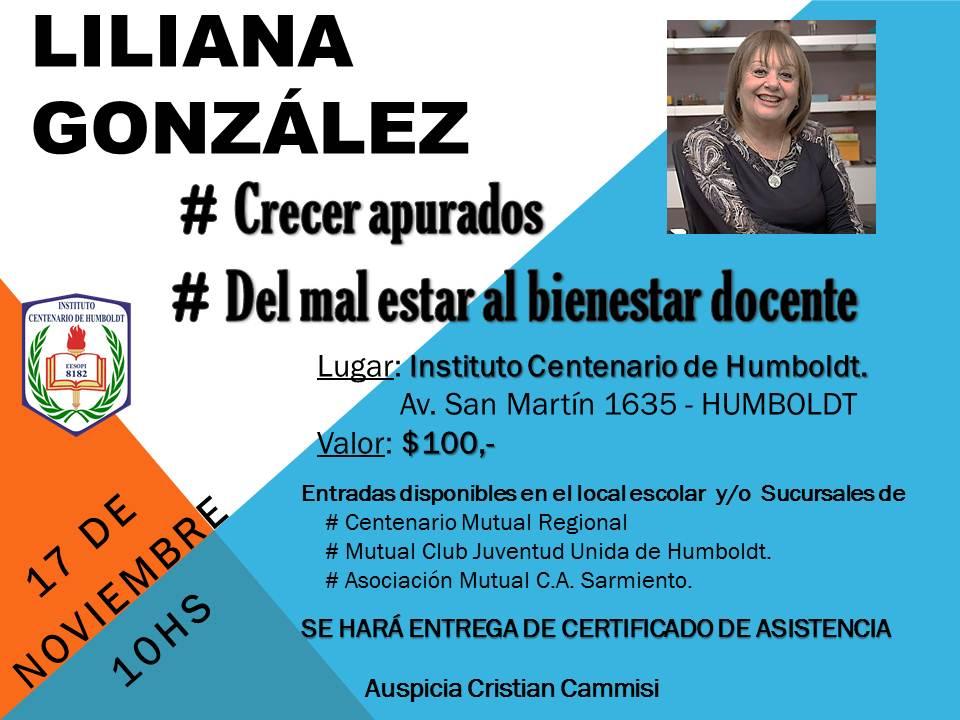 Disertación de la Psicopedagoga Liliana González