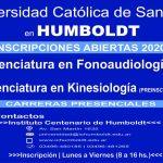 UNIVERSIDAD CATÓLICA DE SANTA FE: Inscripciones  2020